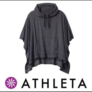 Athleta Tops - Athleta Blissful hooded poncho charcoal grey Sz S